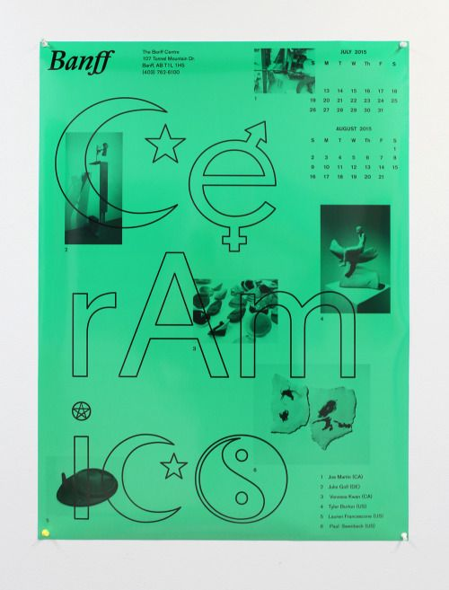 Lauren Francescone (MFA 2011)Poster for The Banff Center, 2015