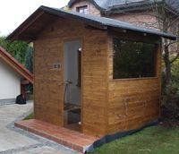 Venkovní sauna sedlová střecha