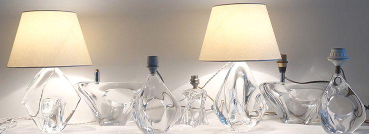 Lampes en cristal XXème siècle www.jifcollin.com