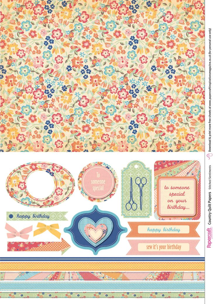 Papercraft Inspirations 156 Country Quilt free digital papers