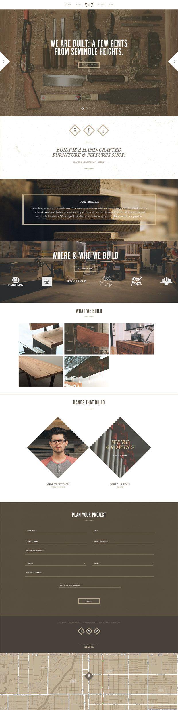builtthings - long scroll - custom furniture web site