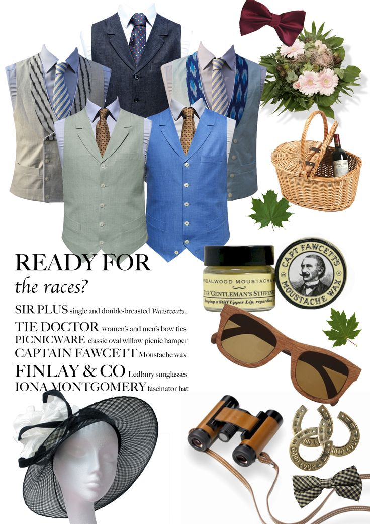 horse racing outfits & accessories. What to wear at #Ascot. Finlay and co, Iona Montgomery, Captain Fawcett, Tie Doctor, Sir Plus.