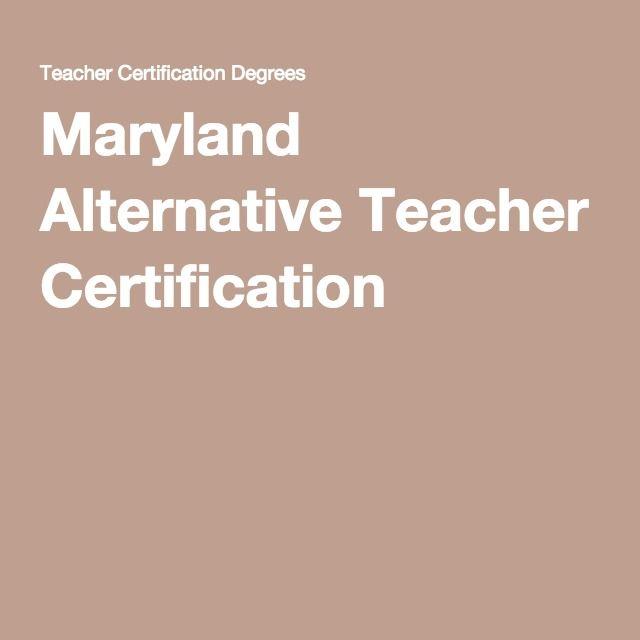 maryland alternative teacher certification alternative teacher certification dallas