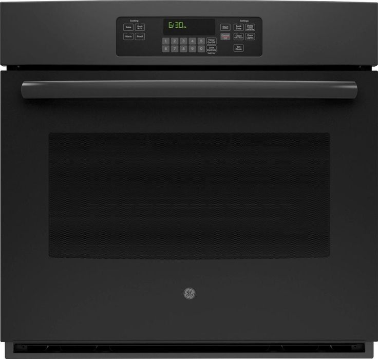 """GE - 30"""" Built-In Single Electric Wall Oven - Black"""