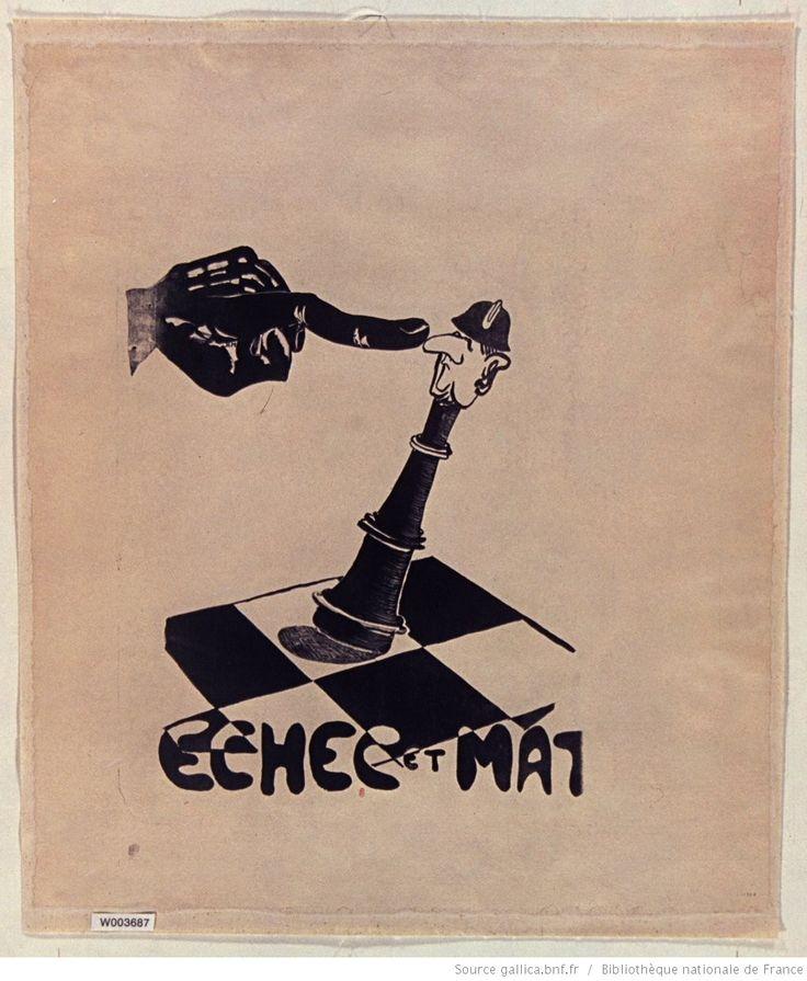 Atelier des beaux-arts ? -> Les affiches de mai 68 ou l'imagination graphique. [Mai 1968]. Echec et mat, [Fac. des sciences] : [affiche] / [non identifié]