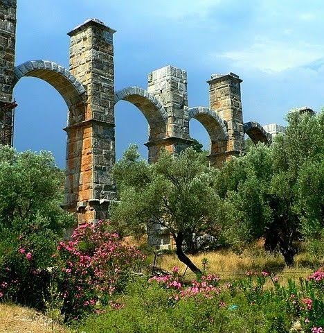 Moria Aqueduct, Lesbos, Greece