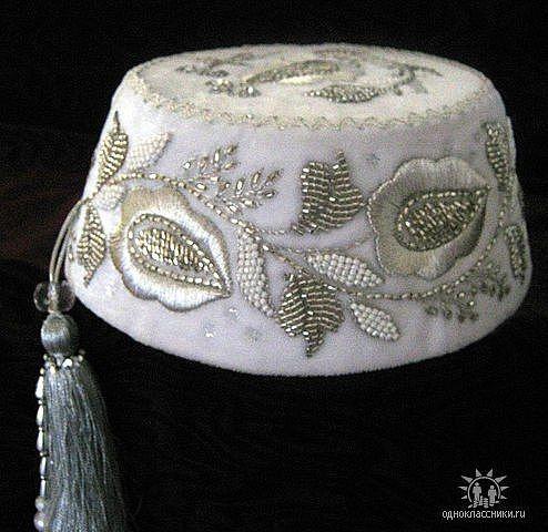 wedding head-dress of crimean tatars