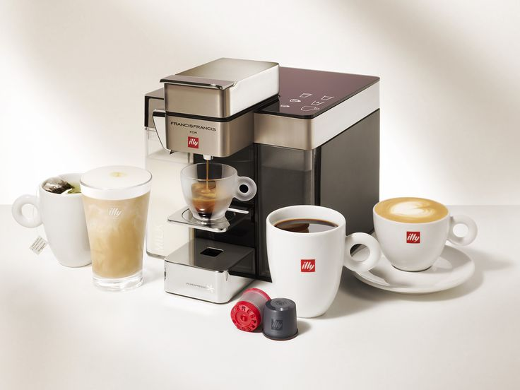 The Y5 Milk Espresso & Coffee machine: Deliciousness delivered with ease, cup after cup. With a hot water dispenser for soothing tea, and new integrated milk frother for beautiful lattes and smooth cappuccinos, every cup becomes an at-home indulgence. Available on our e-shop: shop.illy.com.