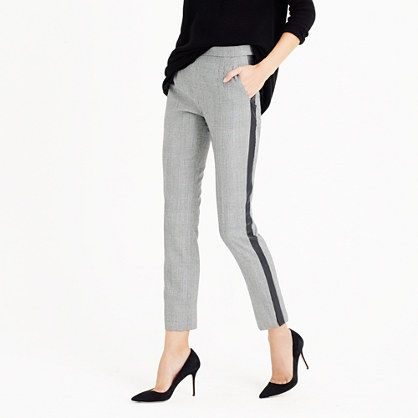 J.Crew - Martie pant with tux stripe in glen plaid