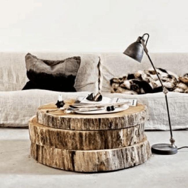 les 25 meilleures id es de la cat gorie rondin de bois sur pinterest tables de chevet blanches. Black Bedroom Furniture Sets. Home Design Ideas