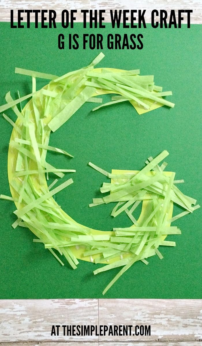 Celebrate spring with this Preschool alphabet letter of the week craft! G is for Grass! AD
