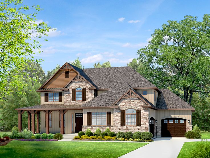 mountain rustic two story house plan houses pinterest