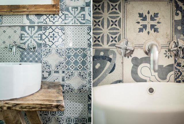 Loving these patterned tiles