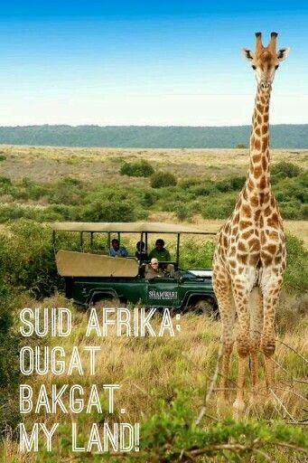 Suid Afrika; ougat bakgat. My land!
