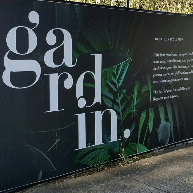 The hoarding for Gardin has now gone up as well!   #Property #Design #Branding #ByYoke