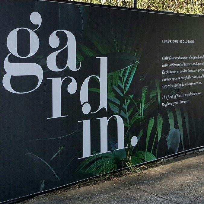 The hoarding for Gardin has now gone up as well!   #Property #Design #Branding…