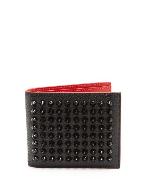 dc473e18c8a CHRISTIAN LOUBOUTIN Kaspero Spike-Embellished Leather Wallet ...