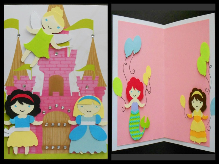 Cricut Card Making Ideas Part - 15: Handmade Disney Princess Card Using Once Upon A Princess Cricut Cartridge