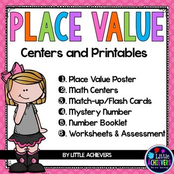 Understanding the concept of place value plays a key role in developing a strong foundation of our number system, AND this packet of Place Value Worksheets and games is filled with a wide variety of activities and centers to help you teach this important concept.