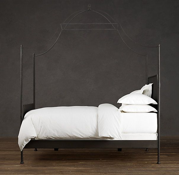 19th c campaign iron canopy bed bedroom pinterest