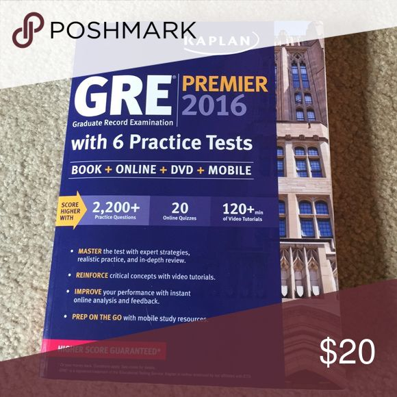 Kaplan GRE Premier Book 2016 2016 Kaplan GRE book with CD included. Also includes practice sets and lots of helpful study information. Other