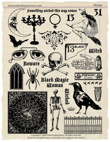 Wicked Rubber Stamp Collection – Halloween