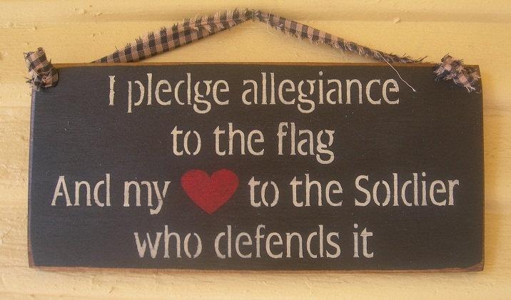 I pledge allegiancesoldier sailor airman by signsofpatriotism08, $7.95
