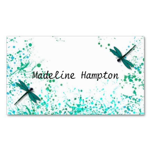 210 best dragonfly business cards images on pinterest for Dragonfly business cards