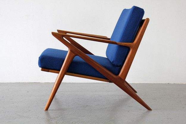 Z-framed easy chair by Poul Jensen