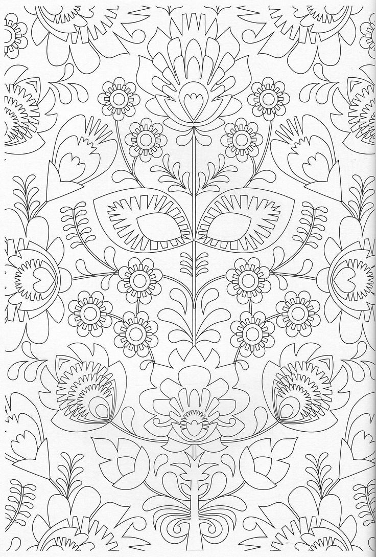 Make a coloring book page with photoshop - Scandinavian Coloring Book Pg 23