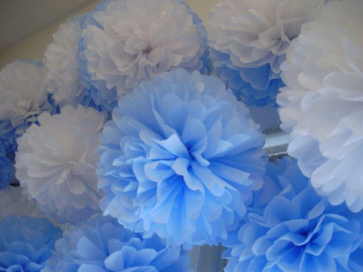 Pompones de papel de seda nuestros pompones pinterest for Papel de pared argentina