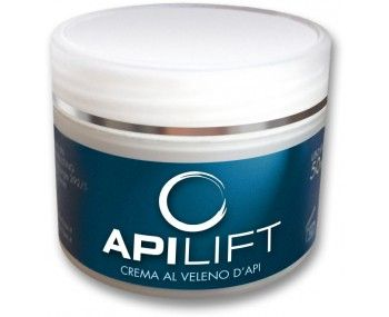 Apilift (50 ml) is a natural aid against the signs of aging. Made in Italy by authorized laboratories with natural ingredients expertly combined. Contains Vitamin E, Retinol and venom Bee. - See more at: http://www.bravoitalia.com/healthandbeauty/apilift.html#sthash.srdZXmV4.dpuf