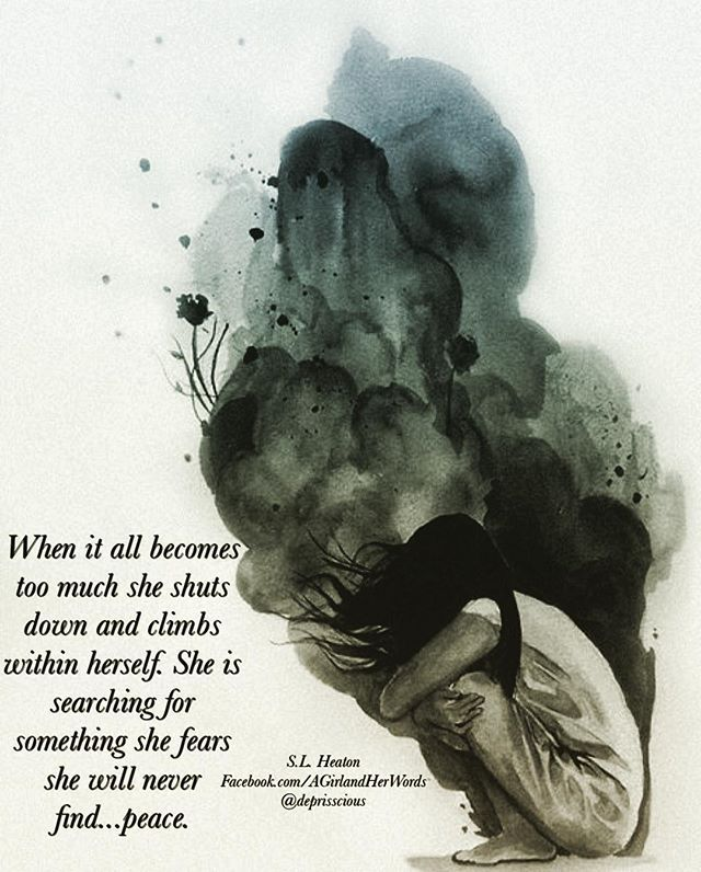 When it all becomes too much she shuts down and climbs within herself. She is searching for something she fears she will never find...peace. .. #thoughts #spilledink #words #poet #poetic #poetry #instagood #instapoetry #beautiful #igwriters #writersig #writersofig #poetrycommunity #life #love #quotes #lovequote #vegasgirl #andshewrites #prissoriginal #deprisscious #howshefeels  #communityofwriters #communityofpoets #poetrycommunity #poetryofinstagram ❤️#slheaton #amwriting