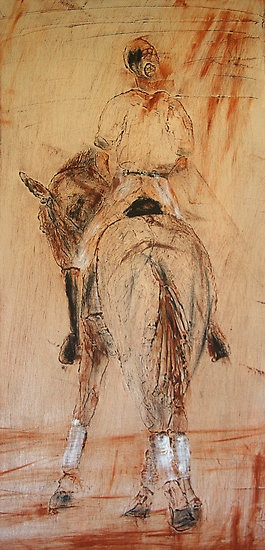 Ahhh Yes...The 'Half Pass'...It's the only time in Life when you try to do something.. 'Half-Assed'... but need to do it well...!    Dressage Art to Love by.....Half Pass II by ~ Ademacart