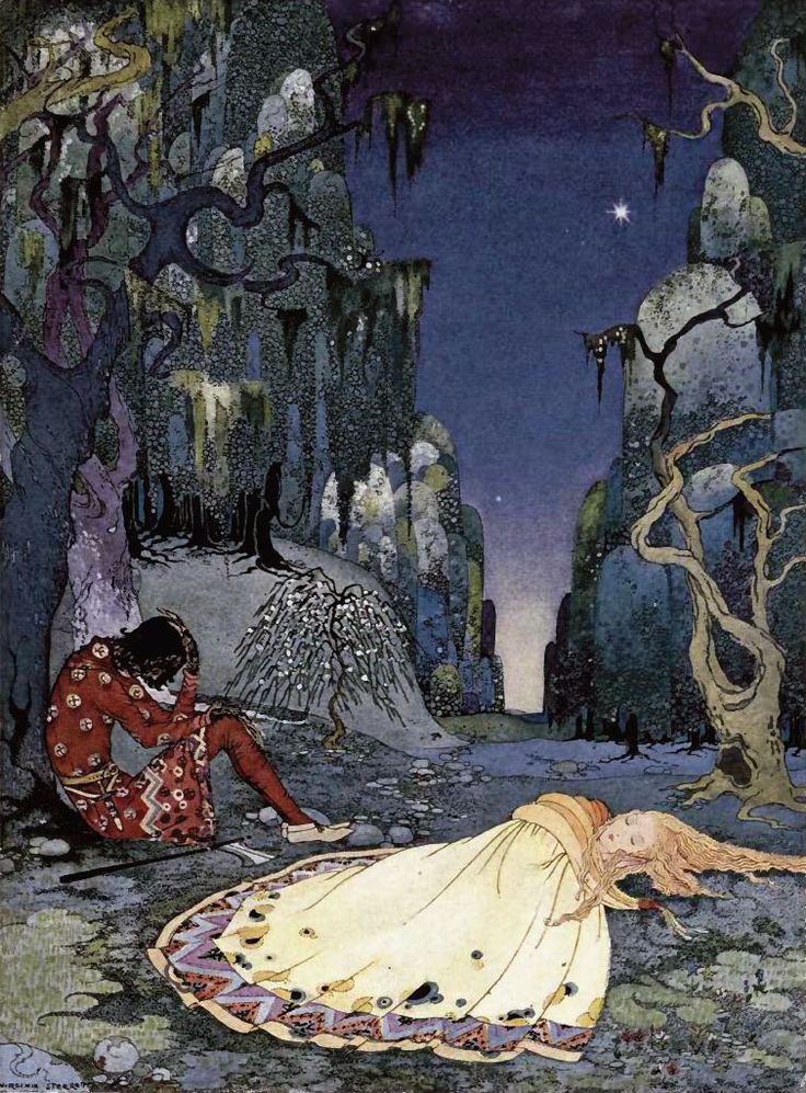 Virginia Sterrett's intricate illustrations of magical kingdoms, princes and princesses, fairies and dragons are beyond enchanting. When I was fifteen I discovered a pristine (albeit pretty dusty) copy of Old French Fairy Tales illustrated by Virginia Frances Sterrett copyright... #illustration