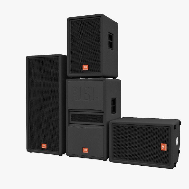concert speakers system. concert speakers jbl max - 3d model system r