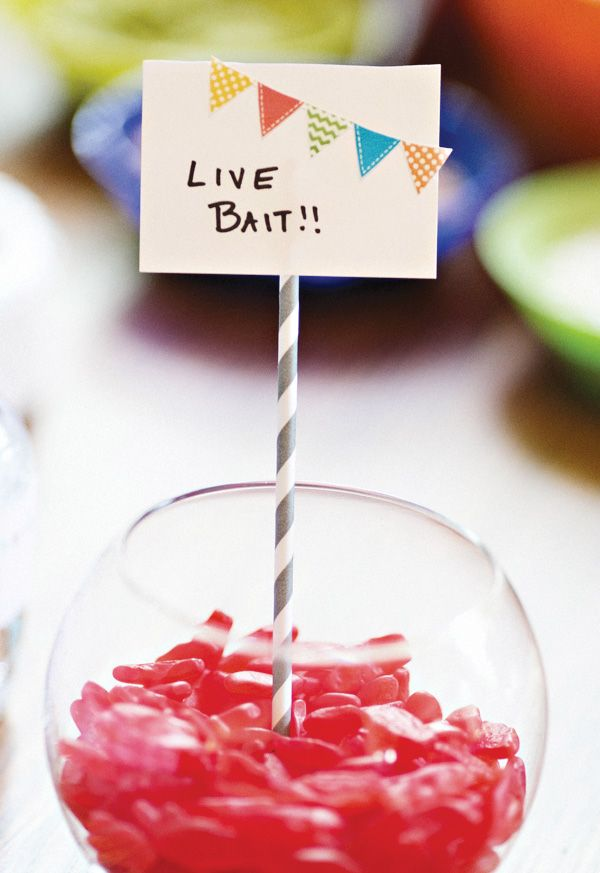 """""""Live Bait"""" Gummy Worm Candy ~ I think this is what our resident fisherwoman needs for her birthday! @Becky Hui Chan Williams ;o)"""