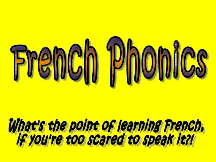 Phonics for learning French