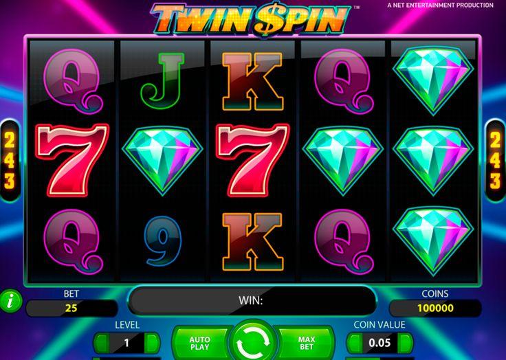 Video Kolikkopeli Twin Spin on NetEnt suunnitellu peli. Pelissa on hyvää grafiikka, 5 erillistä kiekkoa 3 riviä ja 243 tapaa voittaa.