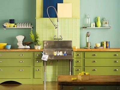 Benjamin moore pale avocado 2146 40 kitchen inspiration for Avocado kitchen cabinets