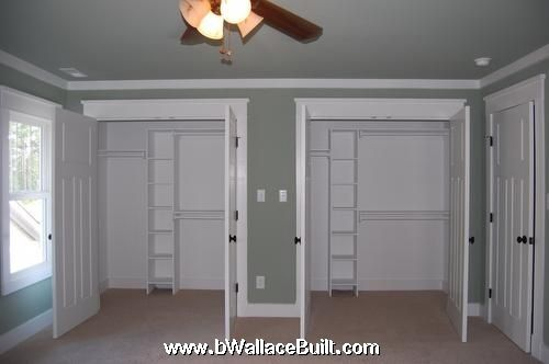 His and her closets should be hers and hers with some - Master bedroom closet door ideas ...
