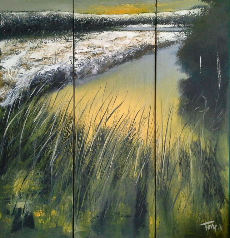 Inverno sul lago  100x120 Luigi Torre