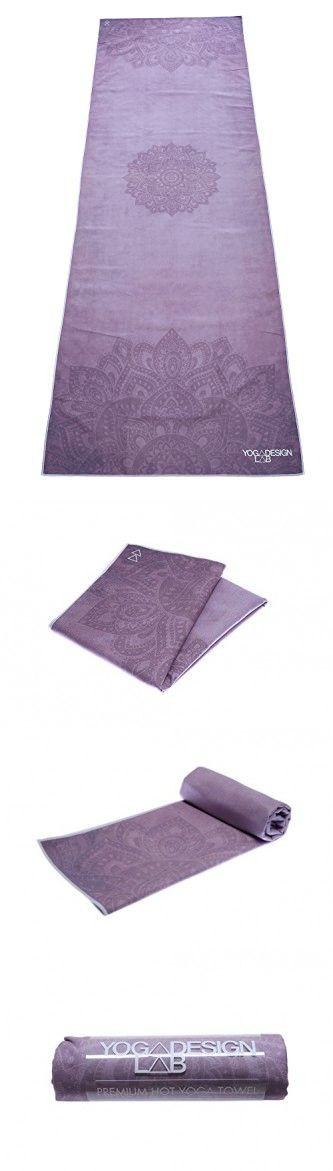 The Mandala Purple Hot Yoga Towel. Eco-friendly, Mat-sized, Lightweight, Insanely Absorbent, Non-slip, Microfiber Yoga Towel, Dries in Minutes.
