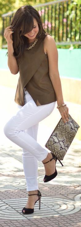 Total Look Zara - Ponte Heels- love this color combo minus the snakeskin