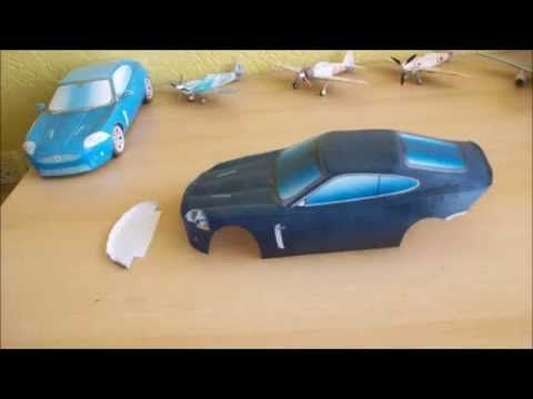 Jaguar XKR Papercraft (Remake) - YouTube