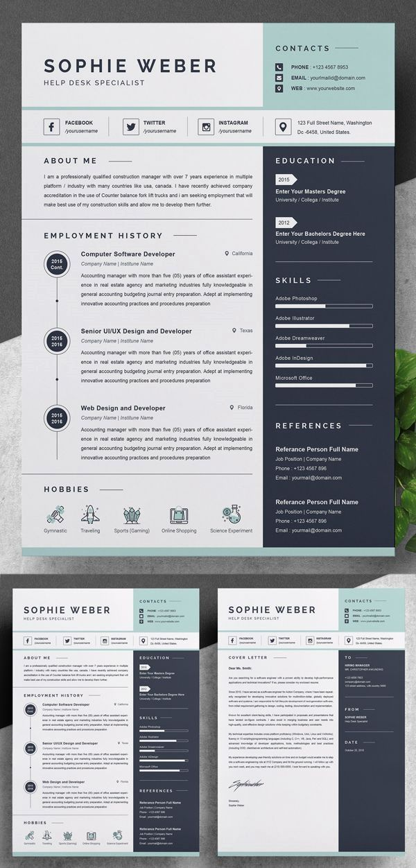 Unlimited Downloads Resume Templates And Edit Using The Resume Builder Unlimited Designs O In 2020 Resume Design Creative Marketing Resume Resume Design Professional
