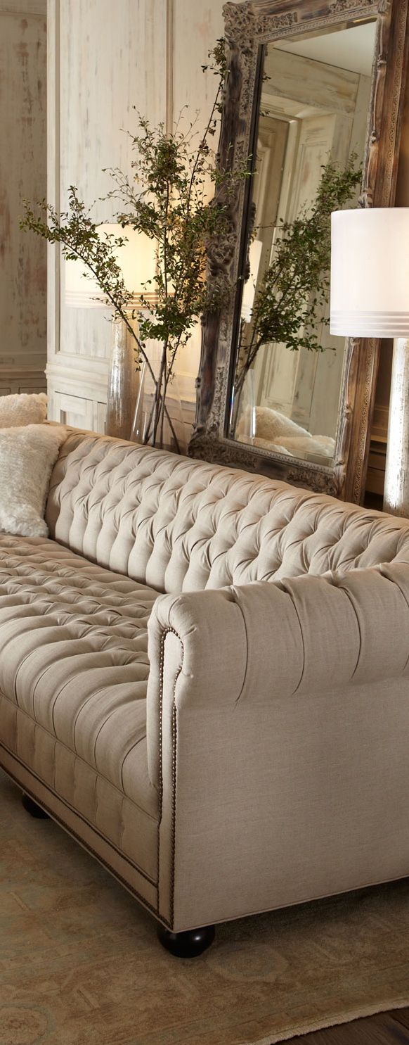 Old Hickory Tufted Sofa Home Decor Pinterest Tufted Sofa