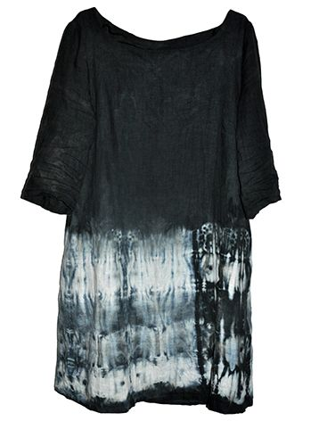Shibori dyed dress, linen