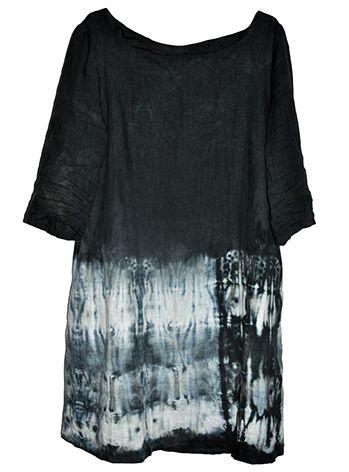 Shibori dyed dress, linen