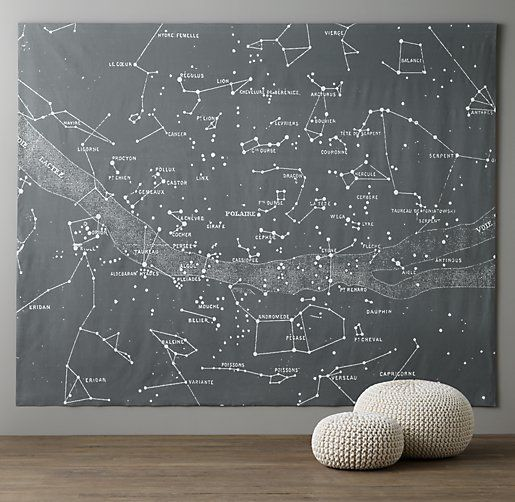 Starry Night Grand Canvas Wall Tapestry